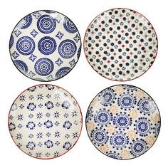 Bring stunning prints to the dinner table with this set of Mosaic plates from Pols Potten. Beautifully hand painted, these ceramic plates feature classic multicoloured mosaic inspired designs. Perf...