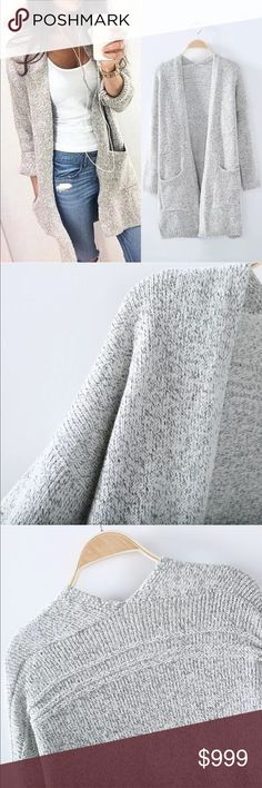 Fall Preview! Plush Heather Gray Cotton Cardigan Fall Preview! Plush Heather Gray Cotton Cardigan • Available in S, M, L & XL. Oversized fit. Luxurious feel. Deep front pockets. Cotton/spandex blend. Coming Soon! Like this listing to be notified upon arrival  Sweaters Cardigans