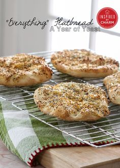 "A Year of Yeast: ""Everything"" Flatbread - Inspired by Charm - Inspired by Charm"