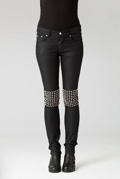 lina osterman black jeans with studded knees