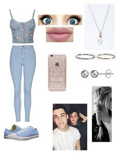 """MC:Meeting the Twins"" by melaniecade ❤ liked on Polyvore featuring Full Tilt, Topshop, Rifle Paper Co, Converse, Boohoo, Journee Collection and Dolan"