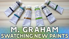 Swatching Paints: M. Graham  Watercolor Collection Update https://youtu.be/YZ4A-FjEChU  In this video Im swatching the new additions to my watercolor collection all from the brand M. Graham! This is a sequel to my past video where I swatched all my new Daniel Smith paints. With these paints I feel Ive rounded out my palette a bit better and Im pretty pleased with where my collection is at right now! (... Ley says before inevitably redoing her whole palette in a months time.)  Get my…