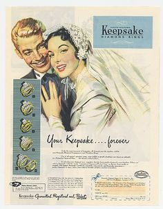 c1950 ad for wedding sets