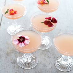 Lillet Rose, a fortified-wine blend of Sauvignon Blanc and Muscatel, has the aroma of flowers and ripe berries — perfect for a springtime aperitif. Garnishing the drinks with edible flowers is a lovely touch. Recipe: Lillet Rose Spring Cocktail   - Delish.com