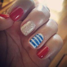 briannaabby's 4th of July nail inspo. Tag yours with #SephoraNailspotting for the chance to be featured! #Sephora #nails #nailpolish
