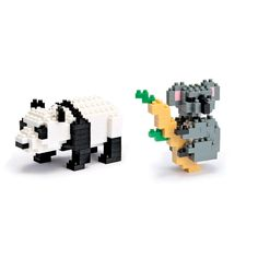 Koalas and pandas may not technically be bears, but we love how cute they are in mini form! OMG!! These are the Absolute CUTEST animals aren't they?! You can build them yourself with NANO BLOCKS!! Better than Lego's for us Adults or your kids!!