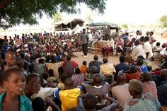 The classroom in a refugee camp in Mozambique