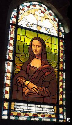 Joconde Mona Lisa vitrifiée