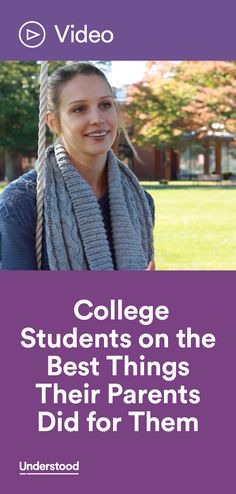 Many parents of kids with learning and attention issues hope their children will go to college. Hear from these students at Landmark College on what their parents did—and didn't do—to get them where they are today.