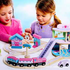 Train Track Game for the girls (suitable to play with Thomas train) : Baby Wooden Toys