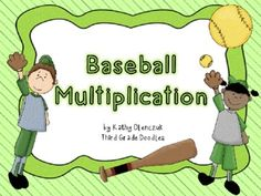 Multiplication Baseball - Saaaa-wing Batter!  Help your students master those multiplication facts with a super fun baseball game!!  Includes: Directions Game Board 12 Game Markers (Girl & Boy Players) 12 Fielder Cards 12 Batter Cards Multiplication Fact Cards (Factors up to 9x12) Score Sheet Check Your Facts Cheat Sheet 20 pages