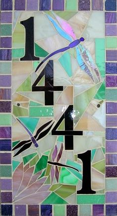 oooh! pretty. Custom Made Mosaic House Numbers Signs. $60.00, via Etsy.