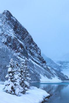 #LakeLouise #Banff Lake Louise Drive, #Wallpaper #Snow Winter, Lake, Tree - Follow @extremegentleman for more pics like this!