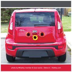 Debra decorates her #KiaSoul with flowers. How do you personalize your Kia? | photo by Soul owner and #KiaKey member, Debra A.
