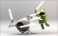 Een Apple of Android telefoon. Met de smartphone zijn de medewerkers van Luminesense B.V. overal en snel bereikbaar.