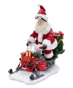 Add a fun, classic touch to your holiday decor with this Fabriche™ Snowmobile Santa from Kurt Adler. Santa Claus is featured here in his traditional red and white suit and hat riding a snowmobile. Christmas Store, Christmas Ornaments, Father Christmas, Santa Christmas, Christmas Trees, Vintage Christmas, Xmas, Seasonal Decor, Holiday Decor