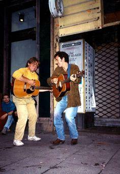 Bruce Springsteen på Strøget i København i 1988