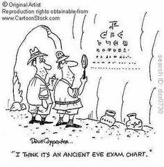 Optical News With Independent Views Good Jokes, Funny Jokes, Test Visual, Eye Jokes, Optometry Humor, Doctor Humor, Cartoon Eyes, Eye Chart, Eye Exam