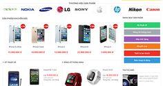 thiết kế website bán điện thoại di động Nikon, Sony, Website, Dinghy