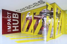 Working in a unique, dynamic space could have real boosts to productivity. So here are 35 inspiring office branding designs for inspiration. Work Office Design, Dental Office Design, Modern Office Design, Workplace Design, Healthcare Design, Modern Interior Design, Modern Offices, Office Designs, Office Branding