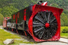 Alaska Rotary Train Snow Breaking