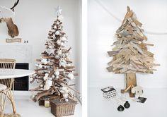 Rien de plus facile que de créer soi-même un sapin de Noël en bois. L'idée, design et originale, a l'avantage d'être éco-responsable. Quelques planches ou branches, quelques clous et un bon marteau suffisent. Il ne faut pas forcément s'essayer à créer un sapin... #bois #déco #diy