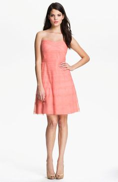 'Pink lemonade' perfection!   Donna Morgan Strapless Tulle Dress at Nordstrom