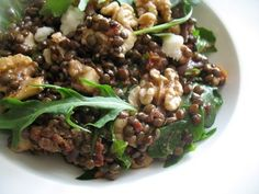 Lentil Salad with Walnuts, Goat Cheese and Sun-Dried Tomatoes | Lisa's Kitchen | Vegetarian Recipes | Cooking Hints | Food & Nutrition Articles