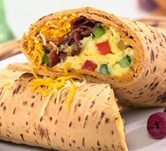 Western Omelet Flatout Wrap