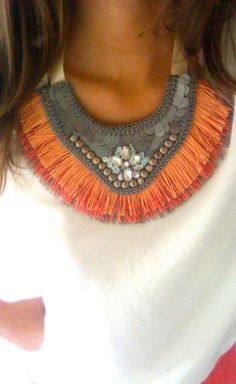 <3 Maria Galhardo - she makes these necklaces by hand and these pieces are one of a kind