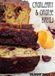 Cranberry and Orange Bread | http://mummymade.it/2014/11/cranberry-and-orange-bread.html Gluten Free, Dairy Free, Paleo