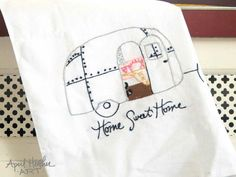 Airstream Camper PDF Embroidery Pattern-Home Sweet Home