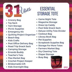 Thirty One Uses, Thirty One Fall, Thirty One Gifts, Yarn Storage, Tote Storage, Kids Craft Supplies, Crafts For Kids, Direct Sales Games, Thirty One Organization