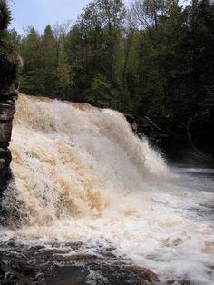 Canyon Falls, Baraga county, MI.   15 feet