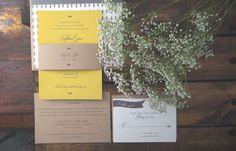 Rustic Wallpaper Inspired Wedding Invitations