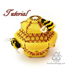 This is a beading PATTERN only, you are not purchasing the Bee-ded Honeypot with this listing. A gorgeous little six-sided pot with a peyote stitch honeycomb pattern, petals and a lid with sparkling rivoli in the centre, finally embellished with little beaded bees, this will make a