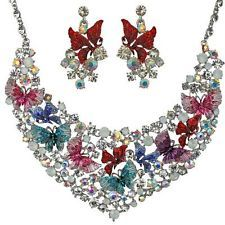 NEW KIRKS FOLLY BUTTERFLY WHISPER NECKLACE and  EARRINGS SET