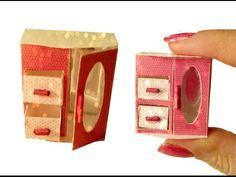 DIY Miniature Jewelry Box for Dollhouse TUTORIAL - Crafts - YouTube