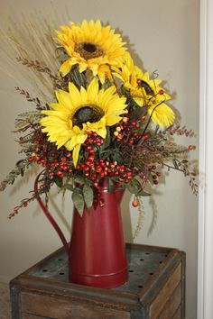 Sunflower Arrangement Fall or Summer Sunflower by ModernFarmChick