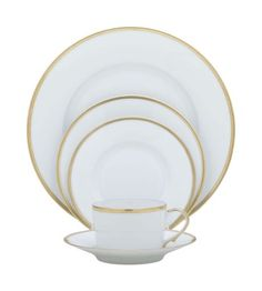 Raynaud Fontainebleau Gold  5-Piece Place Setting