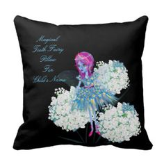 Personalized TOOTH FAIRY add name child's Pillows