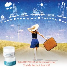 Put our best-selling products to the test with BREVENA's Perfect Pair Try Me Kit. Anti Aging Skin Care, Skincare, Pairs, Kit, Vacation, Things To Sell, Fall, Shop, Travel