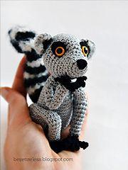 Ravelry: Sartù the Lemur - amigurumi pattern by Ilaria Caliri (aka airali)