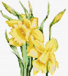 Cross Stitch | Daffodils xstitch Chart | Design