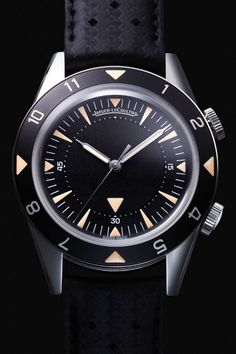 Jaeger-LeCoultre Memovox. A 2015 version of Memovox Deep Sea, released in 1959. It was the first diver's watch to have an alarm.