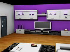 Salon 3d coin tv réalisé avec 3ds max
