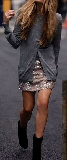 We have a skirt like this coming in Black. Who would have thought, sequins as casual wear!  Makes us Blush. (follow us on Facebook)
