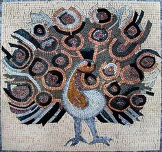 A marvelous mosaic design depicting a peacock showing off its beautiful feathers.Created using all natural stones and hand cut tiles, this authentic mosaic is sure to add an artistic touch to any indoor or outdoor room. Mosaic Uses: Floors, Walls or Tabletops both Indoor or Outdoor as well as wet places such as showers and Pools., Get it now for $470.