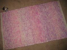 Rug Handwoven Alpaca Natural Fiber Pink Purple by AlpacaShack