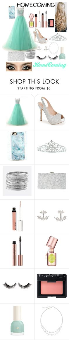 """HomeComing"" by xonfident ❤ liked on Polyvore featuring Lauren Lorraine, Casetify, Kate Marie, Avenue, Sondra Roberts, Givenchy, SonyaRenée, Benefit, NARS Cosmetics and Vieste Rosa"